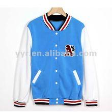 2012 Fashion Girl's Blue Woolen Varsity Jacket