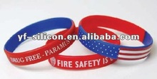 hot-selling fashional America flag silicone bracelet