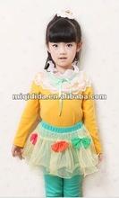 2012 New Fashion Girls Lace collar Children's autumn/spring t-shirt KidsTops Baby girls long sleeve lovely princess t-shirt
