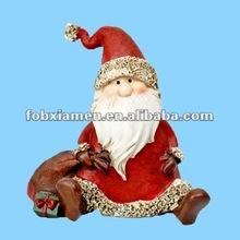 Resin ornaments 2012 christmas santa