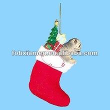 Resin ornaments 2012 christmas sock