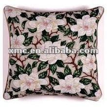 3d appliqued flower cushion