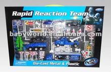 Die Cast Police Car Set