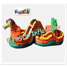 Funny commercial snake side maze inflatable kids obstacle course for sale (OBS-287)