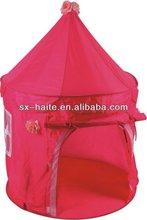 pink color 2012 hot sales kids play castle tent