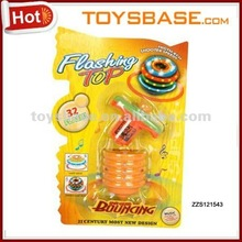 Plastic toy led flash spinning top