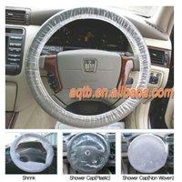 plastic steering wheel covers white
