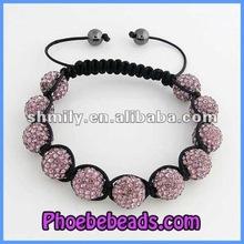 Wholesale 12mm Disco Ball Shamballa Bracelets PSB194-9