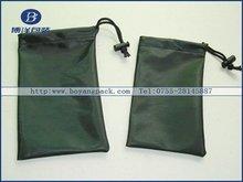 drawstring black mini camera bag