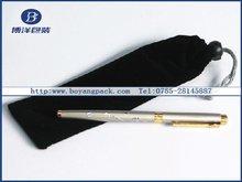drawstring printed pen pouches