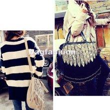 Gypsy Style handbags Tassels Leopard Printed Shoulder trendy college bag