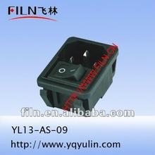 250V copper outlet professional black color YL13-AS-09