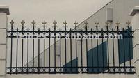 garden ornamental galvanized picket fence