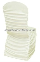 elegant wrinkle chair cover, ivory elastic chair cover