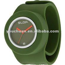 sinobi watch,color silicone slap watches