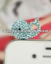 3.5mm cute dolphin phone earphone jack dust cap plug ( thousands of different styles)