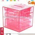 crianças plástico labirinto em forma de caixa de moeda