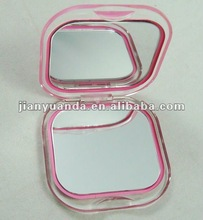 Square folding plastic promotional mirrors pocket/mirror fold