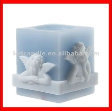 2012 new square Candle/ Flameless angel candle with Timer