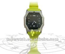 Diamond ladies mobile watch phones