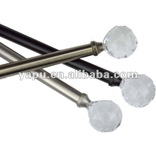 rod mini curtain rod flexible curtain rod crystal end curtain rods