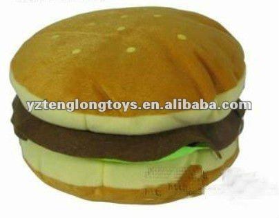 Personalizzati carino a buon mercato e hamburger morbido peluche