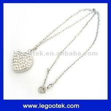 promotion gift original chip jewelry diamond jewel necklace usb flash drive