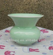 beautiful Handmade celadon ceramic storage jar WRYMA82