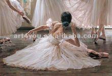 beautiful dance girl portrait painting (HT 2377)