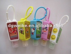 Colorful Silicone Hand Sanitizer Bottle Holder with Lovely Print