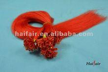 Nail tip pre bonded hair extensions brazilian hair