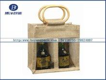jute popular 2 bottle wine bag