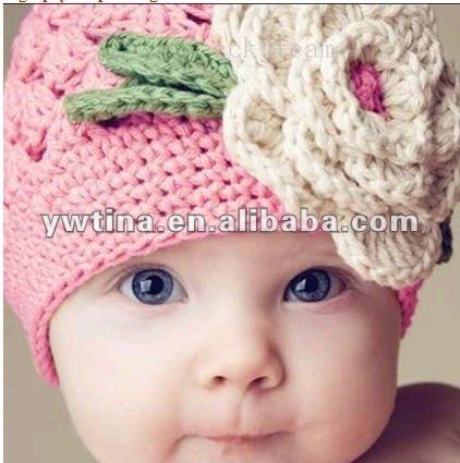 Gorros de lana para bebés a crochet - Imagui