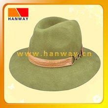 2012 new style fashion wool felt fedora down brim hat