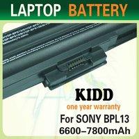 Laptop battery for SONY VGP BPS13 VGP-BPL13 11.1v 6600mah