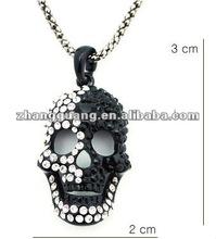 2012 fashion yin yang necklace,diamond skeleton skull pendant necklace