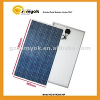 Low price for big power PV solar modules 280W poly