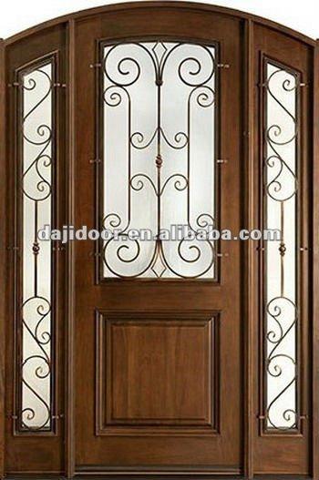 Forg d coration de fer portes d 39 entr e mod le dj s9100mwast portes id du produit 609502797 - Model porte d entree fer forge ...