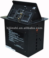 JS-555 press up and retractable conference cable connection box factory