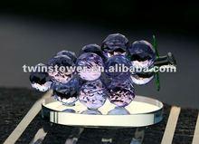 Elegante uvas de cristal dom de cristal roxo