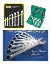 Flat Panel Full Polish Rachet Wrench Set Automotive Hand Tools