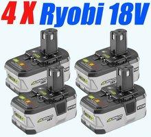 4 packs Ryobi 18V Lithium Battery 2400mAh Ryobi Compact Battery ONE rechargeable battery