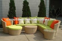 sofa set with rattan outdoor furniture 2012
