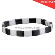 fashion faceted white and black color bracelet, bracelet for fashion icon,free shipping by China Post