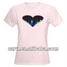 2012 Newest sound active EL flashing T-shirt for party