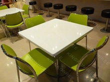 Modern style compact dining table designs four chairs