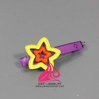 2012 new Acrylic star hair accessory