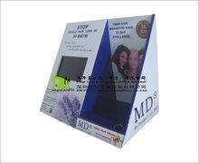 Contador exibe papelão com player de vídeo LCD tela de papel papelão exibição pop