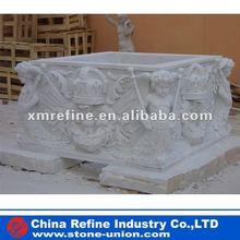 Marble garden water fountain base