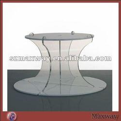 Elegant crystal round perspex wedding cupcake stand